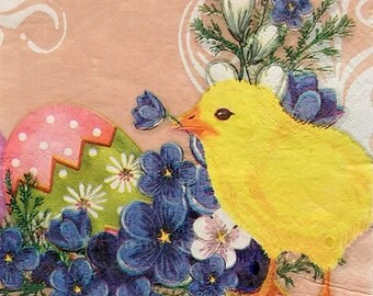 Set of 3 pcs 2-ply ''Easter'' paper napkins for Decoupage or collectibles 33x33, Easter eggs napkins, Holiday napkins, Servietten, Servetten