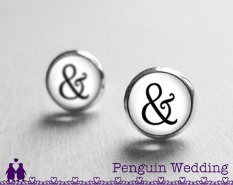 Wedding Gifts for Bride, Ampersand Earrings, Black Friday, Christmas Gift, Anniversary Gift for Her, Gifts for Wife, Girlfriend PE8156