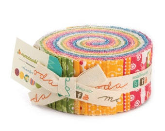 Meadowbloom jelly roll for Moda Fabric