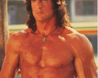 Rambo III Sylvester Stallone 1988 Movie Rare Poster