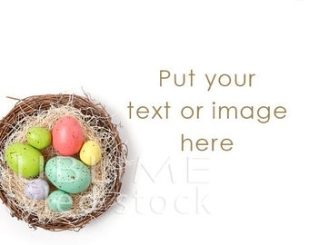Easter Background / Styled Stock Photography / Spring Background / Spring Digital / Easter styled / Easter Basket / JPEG / StockStyle-658