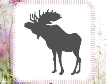 Moose Animal Stencil Reusable Craft Stencil