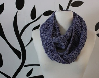 Purple Cashmere Infinity Scarf