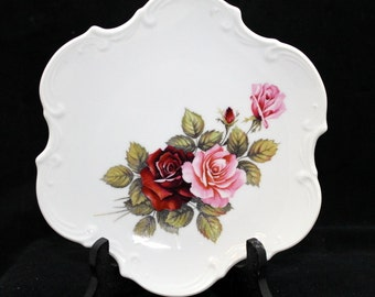 ON SALE Beautiful Rose Wall Plate