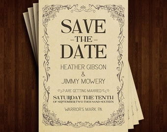 Vintage Save The Dates