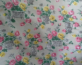 Pretty floral textured vintage fabric