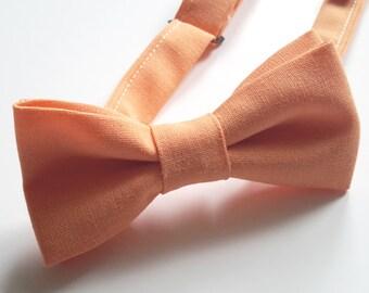 Orange Bow tie, Mens Bowtie, Boys Double Bow tie, Pre-tied bow tie