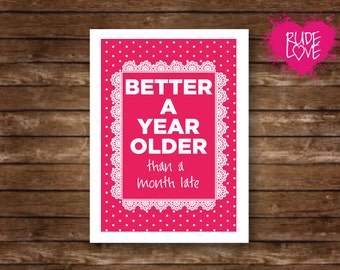 Friendship card - friend card - funny card - funny friend card - encouragement card - just because card - for her -funny birthday card