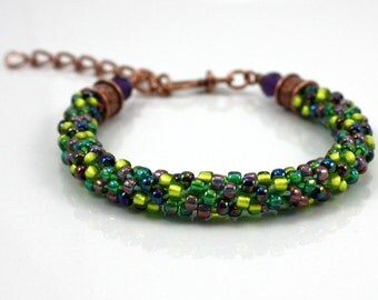 Beaded Bracelet - Braided Bracelet - Beaded Jewelry - Kumihimo Bracelet - Formal Jewelry - Beaded Friendship Bracelet - Special Occasion