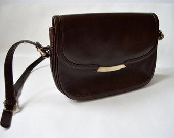 Shoulder Leather Bag Vintage Chocolate Brown Heavy Messenger Bag Handbag Dark Brown Top Handle Short Shoulder Strap