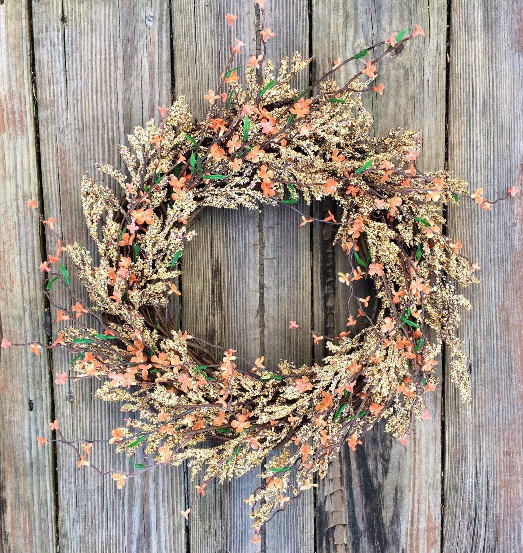 Rustic Door Wedding Ideas: Fall Door Wreath Front Door Wreath Fall Wreath Rustic