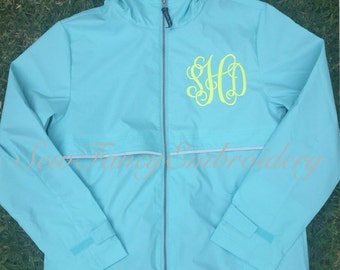 NEW COLORS!!! Charles River Rain Jacket, Monogrammed Rain Coat, Monogrammed Jacket, Rain Jacket