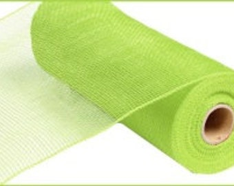 "10""x 10yds. Apple Green Premium Quality Deco Mesh - Solid No Foil/Wreath Supplies/XB90309"