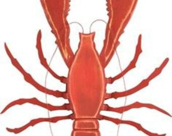 "15.5"" Lobster Wreath Embellishment/ Wall Art - Lobster/Nautical Decor/Beach Decor/26120"