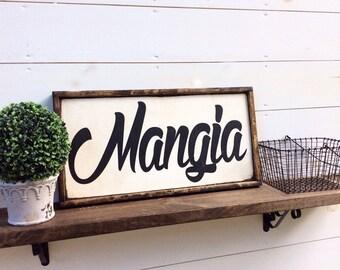 Mangia Sign Eat Sign Italian