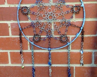 Chainmail Dreamcatcher in Shades of Blue