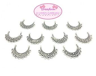 50 9 rings matte silver candlesticks