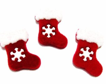 Christmas Stocking Cabochons | Resin Flatback | DIY Supplies | Jewelry Supplies | Embellishments | Warehouse1711