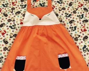 Girls Fox Dress/ Thanksgiving outfit/ Fall Dress