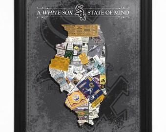 Chicago White Sox State of Mind Framed Print - Illinois