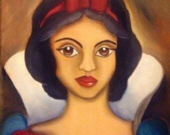 Original Oil Painting of Snow White