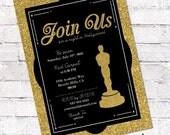 Hollywood / Oscar Party Invitation. Academy Awards Invite. Hollywood Party. Film Party. Digital File to Print Yourself.