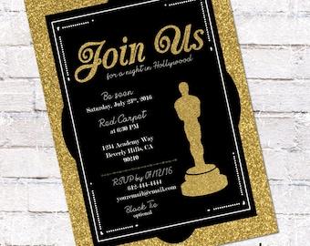 Oscar Party Invitation 2017 Oscar Invitation Academy Awards
