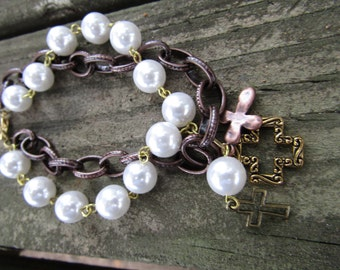 Bracelet Pearls and Chain