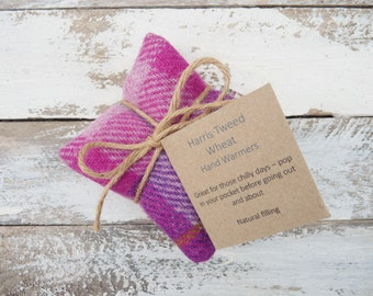 Harris Tweed Hand warmers, Pocket hand warmers, Reusable Handwarmers - Scottish Gift, Tartan Plaid, Hand warmers, natural pain relief
