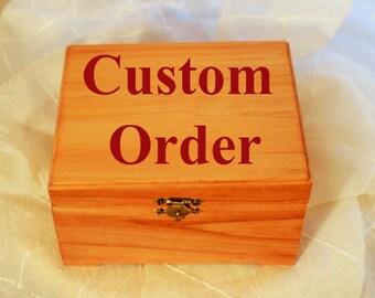 Custom Wooden Box; Personalized Trinket Box; Jewelry Wood Box; Memory Box; 5th Anniversary Gift; Birthday Gift; Wedding Gift; Gift for Her