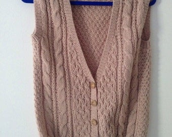 Vintage 90s knitted waistcoat C & A