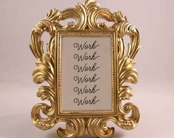 Custom Framed Rihanna Lyrics Quote Work motivational inspriational home decor funny gift office desk decor ornate feminist