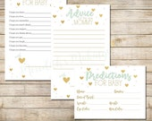 Gender Neutral Baby Shower Games - Baby Advice and Prediction Cards