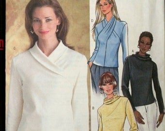 Misses' Top with various necklines Butterick 4347