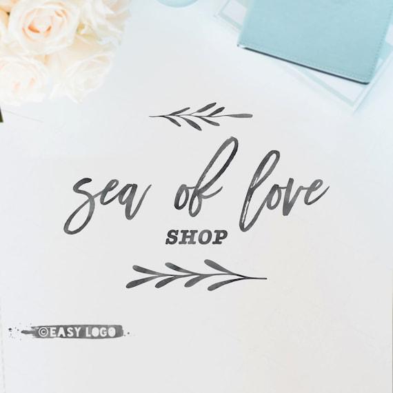 Watercolor calligraphy logo design brush font