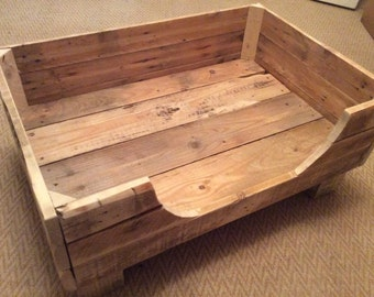 wood dog bed furniture. rustic dog bed made from reclaimed pallet wood furniture