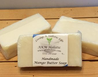 """Handmade Vegan Mango Butter Soap """"Unscented"""""""