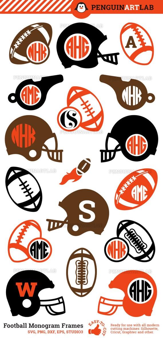 American football monogram frames super bowl svg cut files for American frame coupon