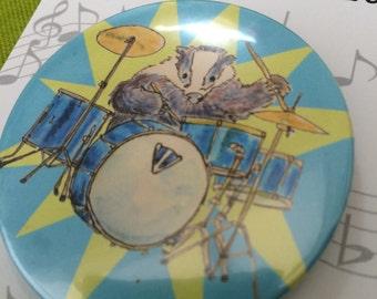 Badger Drummer Badge