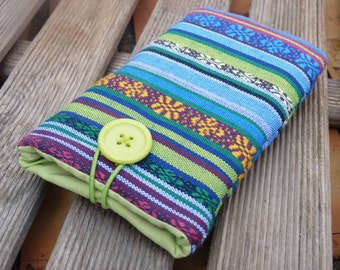 Tribal iPhone 6 Plus Pouch / iPhone 6s Fabric Case /  iPhone 5s cover / iPhone SE Sleeve / Cell phone cover Ethnic Fabric