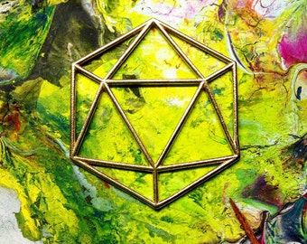 Icosahedron 3D Printed Customizable by Sacred Tribe