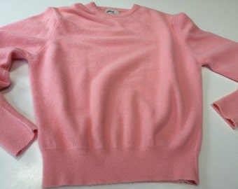 50's Pink sweater preppy classic campus sweater by Garland