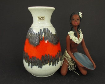 Vintage ceramic vase / Bay / model 66 20 | West German Pottery | 60s
