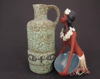 Vintage vase/jug / fish | West German Pottery | 60s