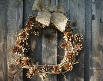 Christmas wreath, Grapevine Wreath, Christmas Front Door Wreath, Christmas Door Decor, Rustic Wreath for Christmas, Mantle Decoration