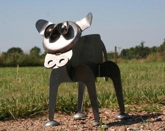 Metal Cow Sculpture, Standing Steel Cow Yard Art, Farmhouse Landscape Art, Outdoor Cow Art, Rusty Cow, Cow Garden Art, Farm Garden Art