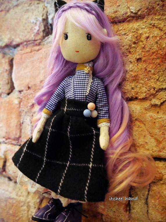 Handmade Doll -Kitty Lady