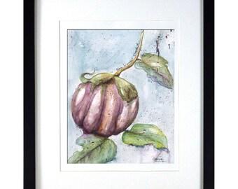 Kitchen Print | Giclée Modern Kitchen Print | Purple, Blue Kitchen Art | Impressionistic Watercolor Print | Italian Kitchen Art Print