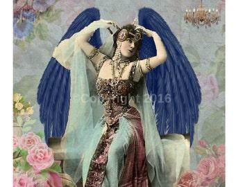 Angel Dancer Victorian Ephemera Vintage Original  Printable Digital Collage Print Altered Art Scrapbook Page Vintage Instant Downl