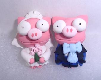 Pig Cuff links Wedding NORMAL The Simpsons Lisa's Weeding Cufflinks